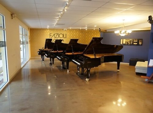 Four 9ft concert grands at Euro Pianos