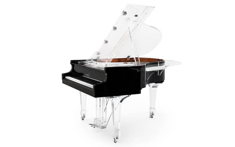 Aire™ acrylic baby grand piano