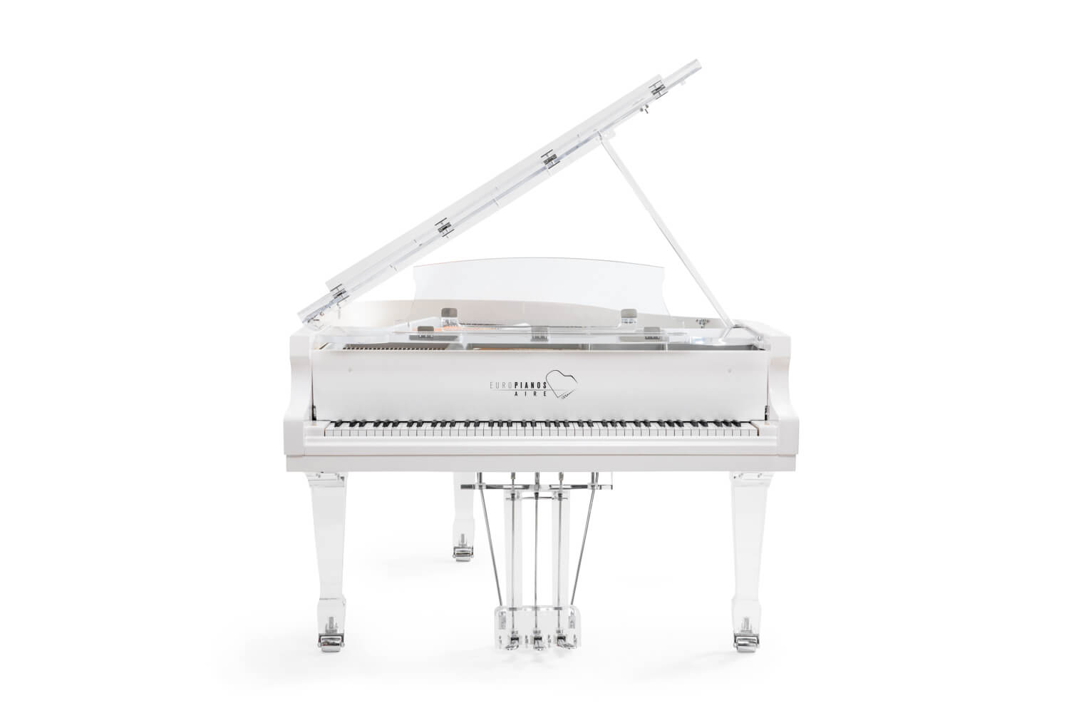 Aire Acrylic Baby Grand Piano in white trim