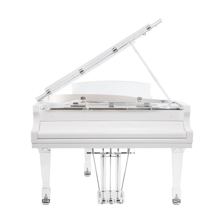transparent modern design piano