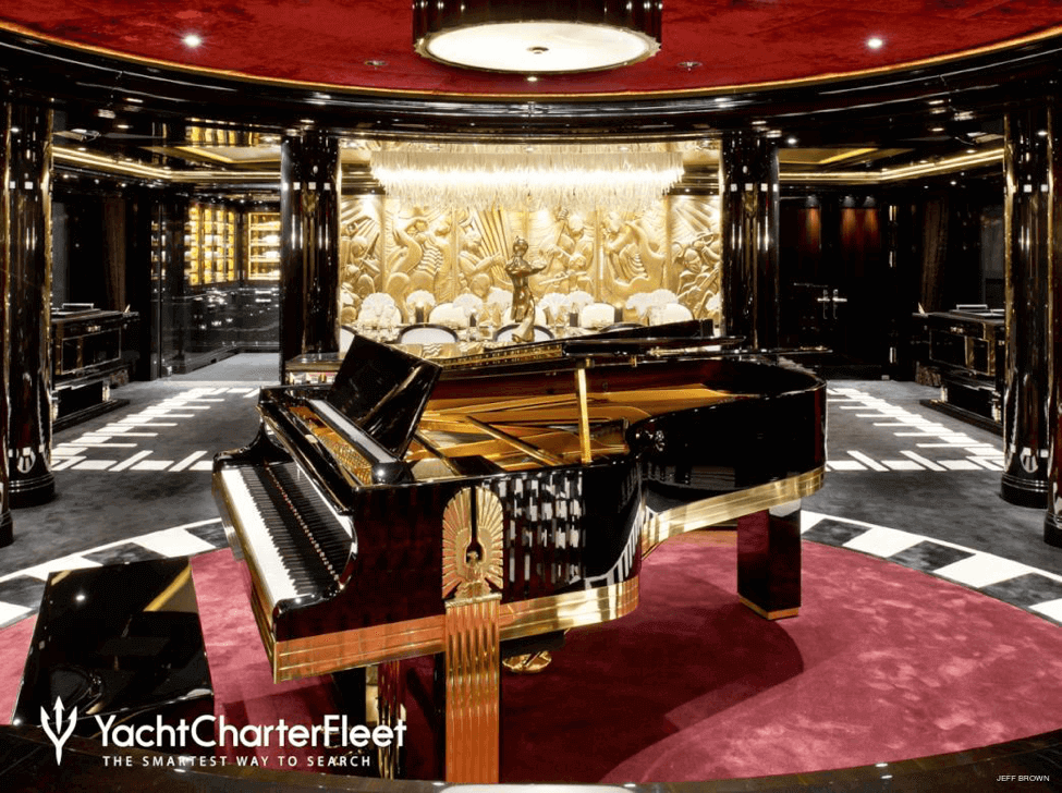 Art Deco Steinway Piano on a yacht