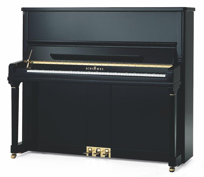 Schimmel Black Upright Piano