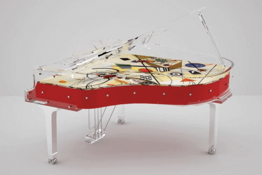 Lucite piano for yacht