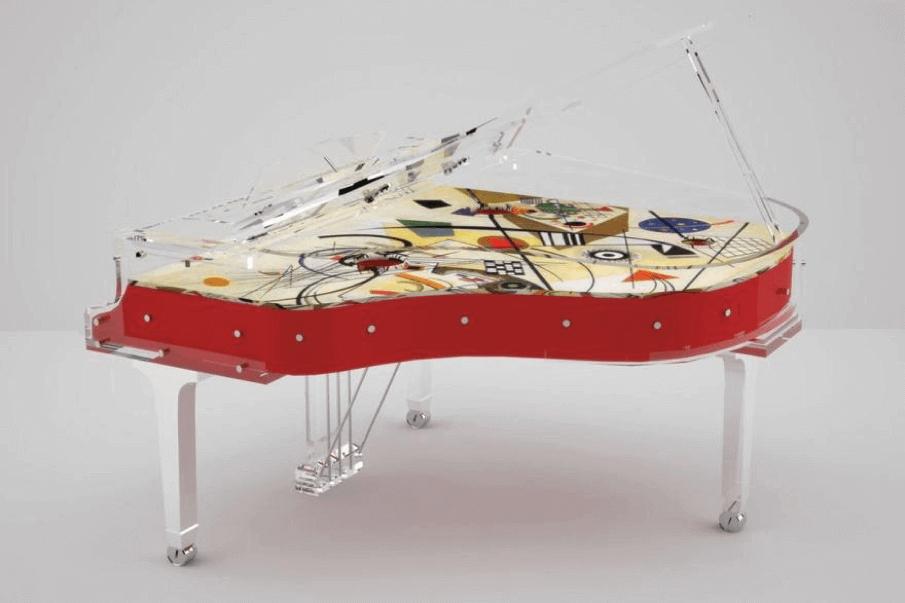 The Bluthner Kandinsky grand piano