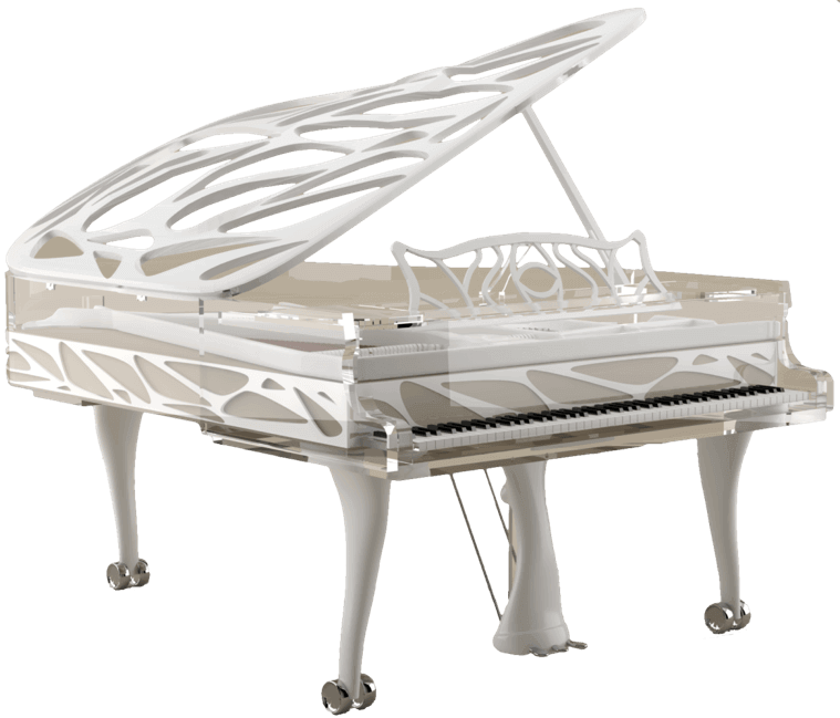 Transparent piano for yacht