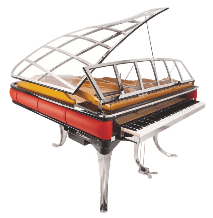 Transparent piano for a yacht