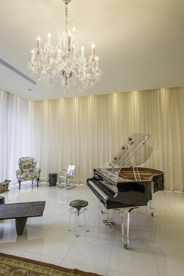 Brickell Miami interior design with a piano