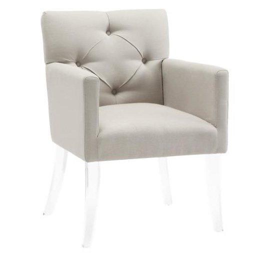 Chair with acrylic legs