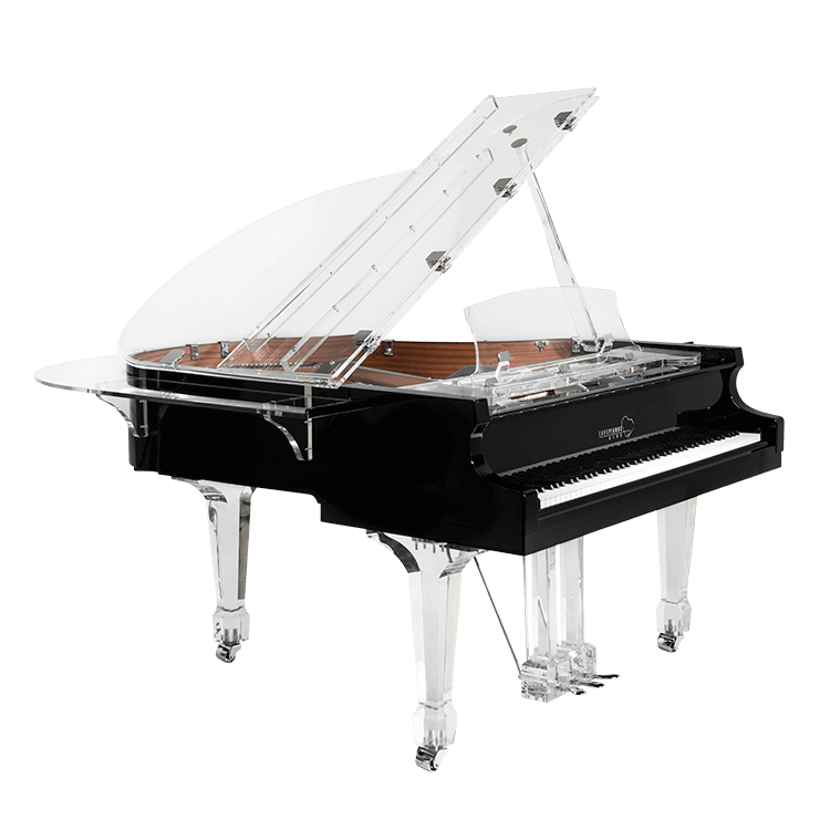 aire acrylic clear baby grand piano for sale euro pianos. Black Bedroom Furniture Sets. Home Design Ideas