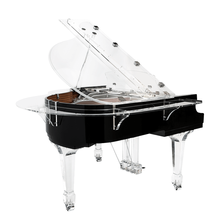 Acrylic grand piano lid