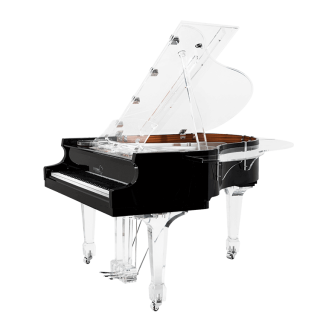 Aire baby grand transparent piano