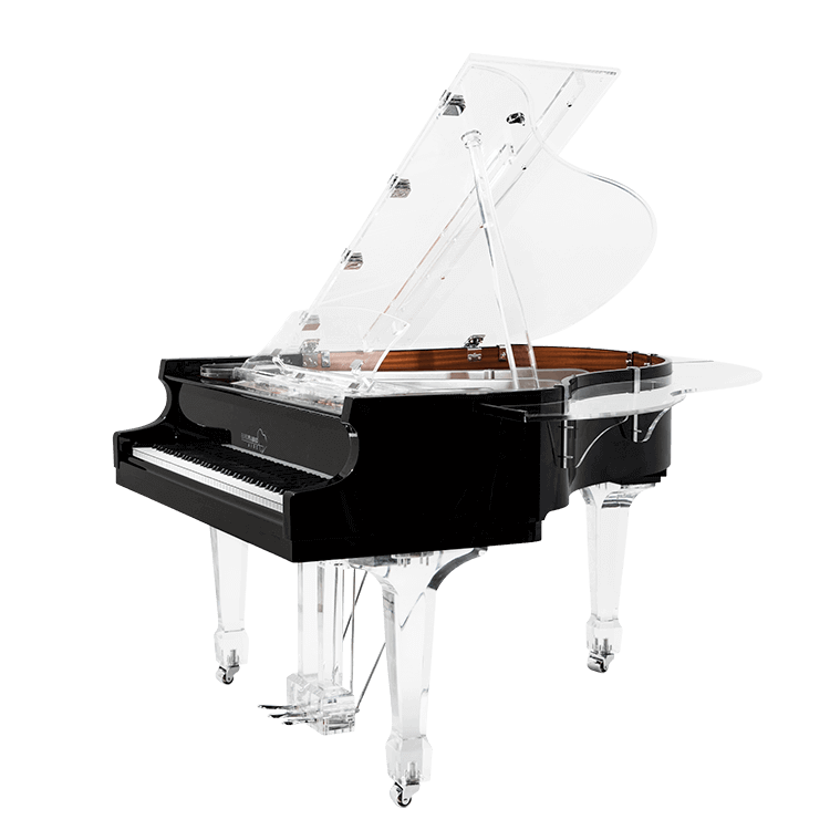 Aire™ baby grand transparent piano