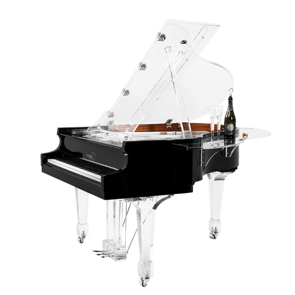 Aire with acrylic PianoBar attachment - exclusively available at Euro Pianos Naples