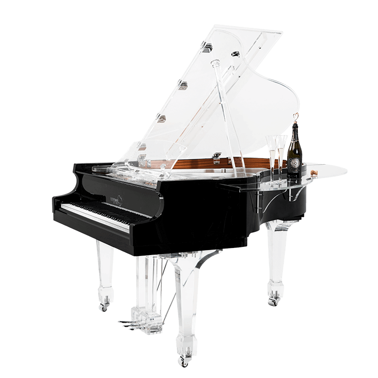 Aire™ acrylic baby grand piano by Euro Pianos