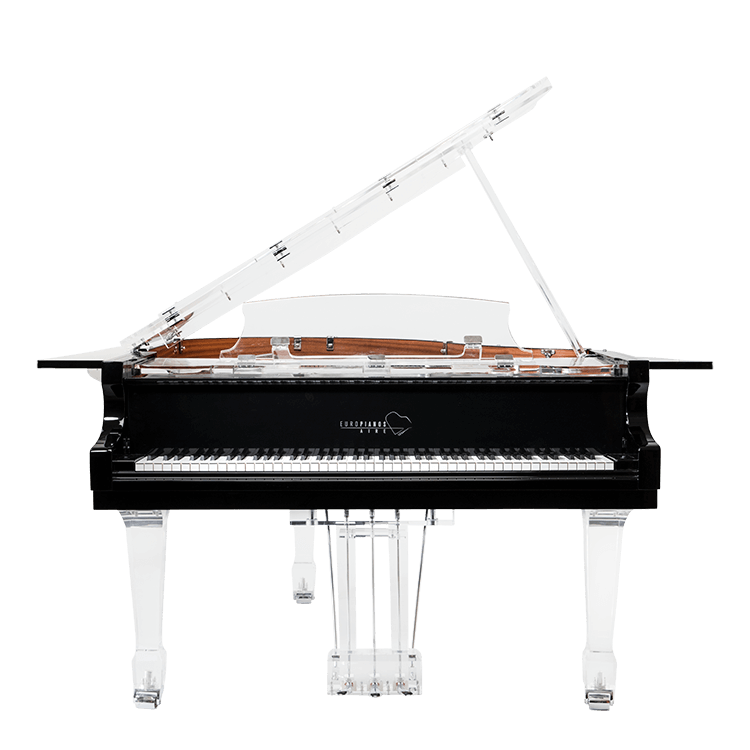 modern acrylic piano