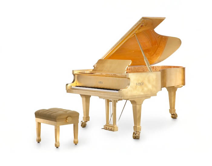 piano with 24k gold leaf