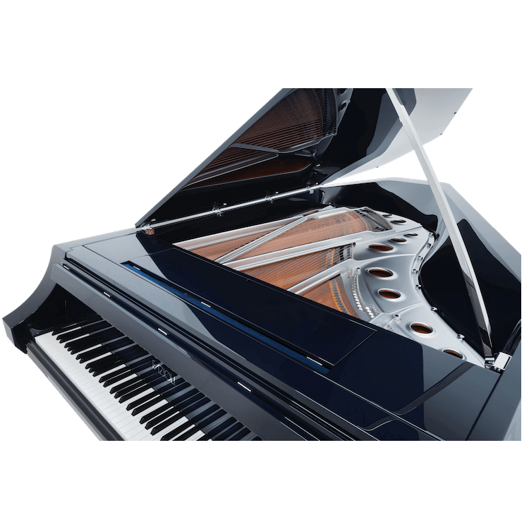 Fazioli piano with silver piano