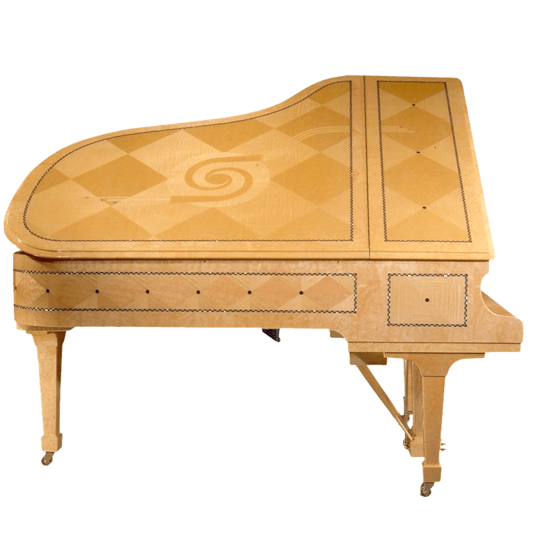 Fazioli Chiocciola piano with light veneer finish