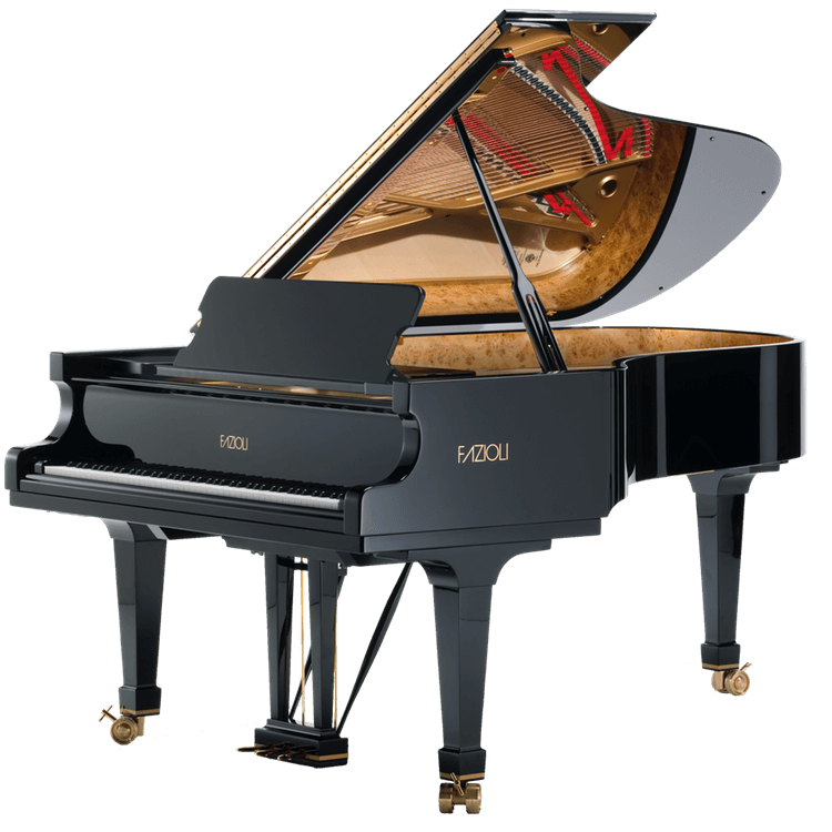 Fazioli model F212 black grand piano