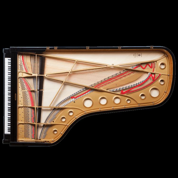 Fazioli F278 inside of a concert grand piano