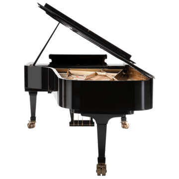 back of a Fazioli concert grand piano