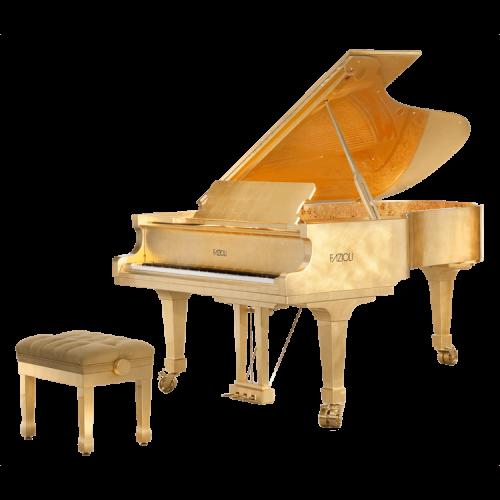 Fazioli Gold Leaf grand piano