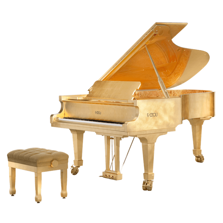 Fazioli Gold Leaf Piano Ultimate Luxury Product