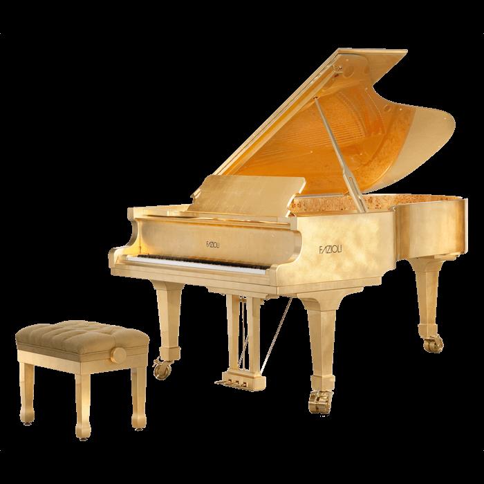The Fazioli Gold Leaf grand piano
