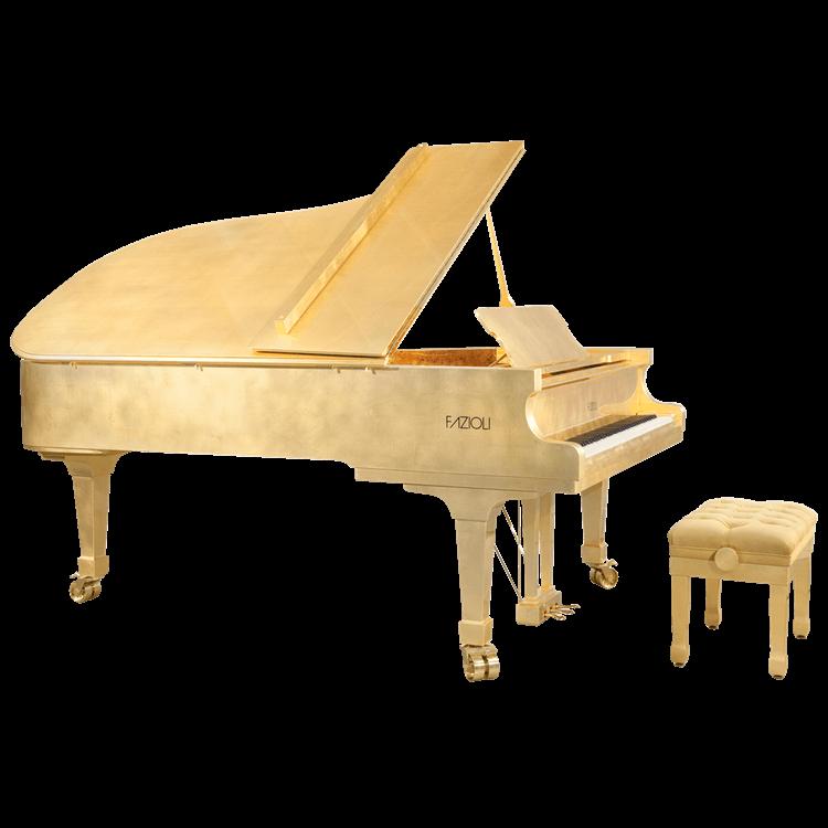 Fazioli Gold Leaf Luxury Piano