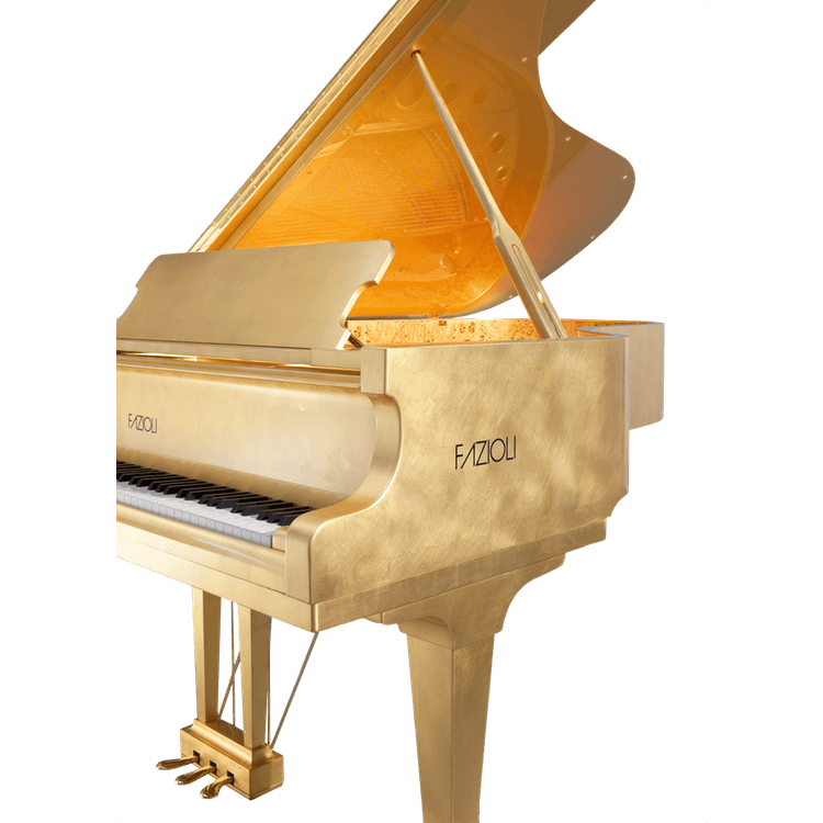 Fazioli Gold Leaf Piano sideview