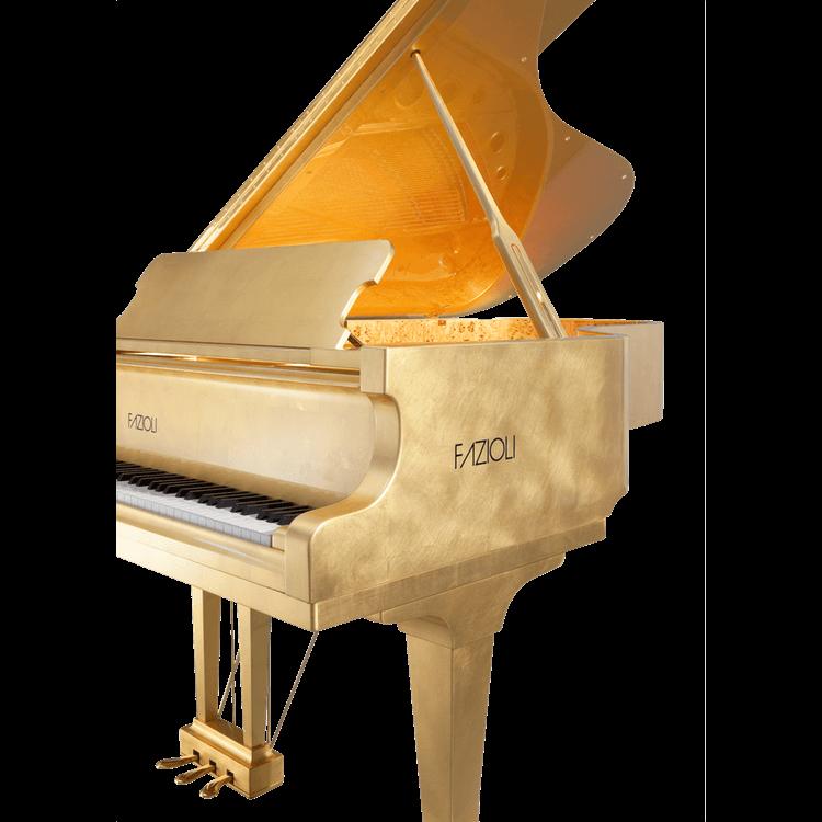 Fazioli Gold Leaf Piano sideview