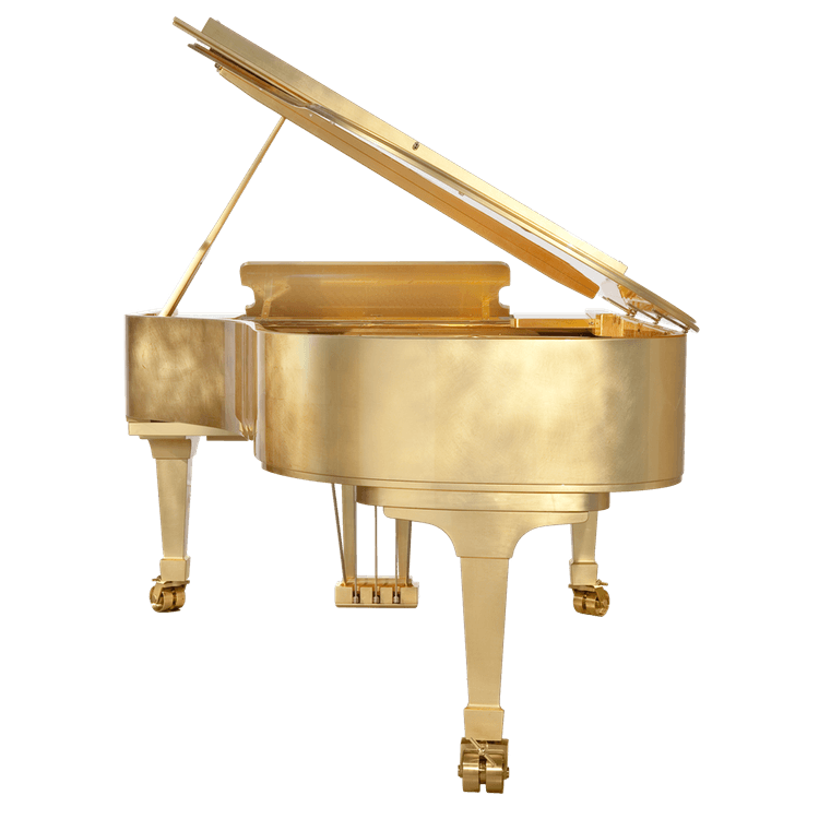 Fazioli Gold Leaf Piano back view