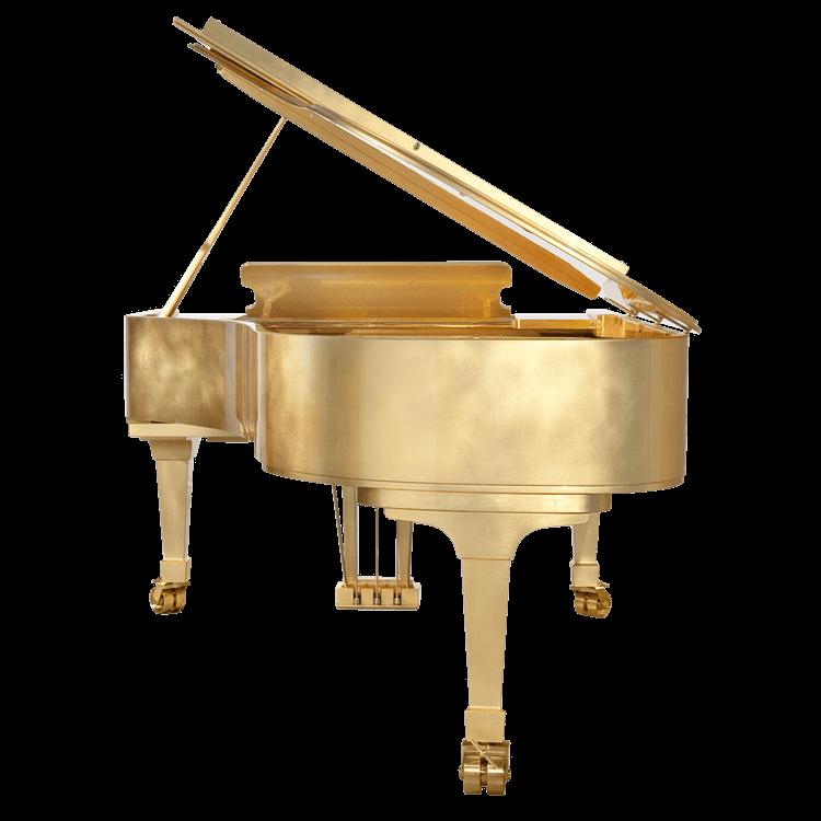 Fazioli Gold Leaf Piano back view