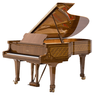 Fazioli model Malachite grand piano