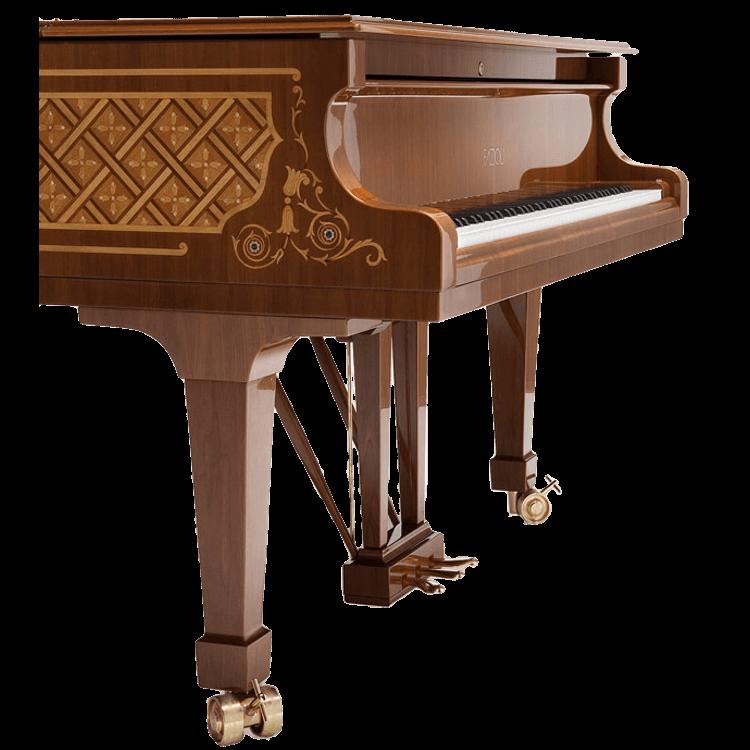 Fazioli Malachite inlaid piano design