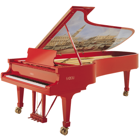 Fazioli Marco Polo piano with painting inside