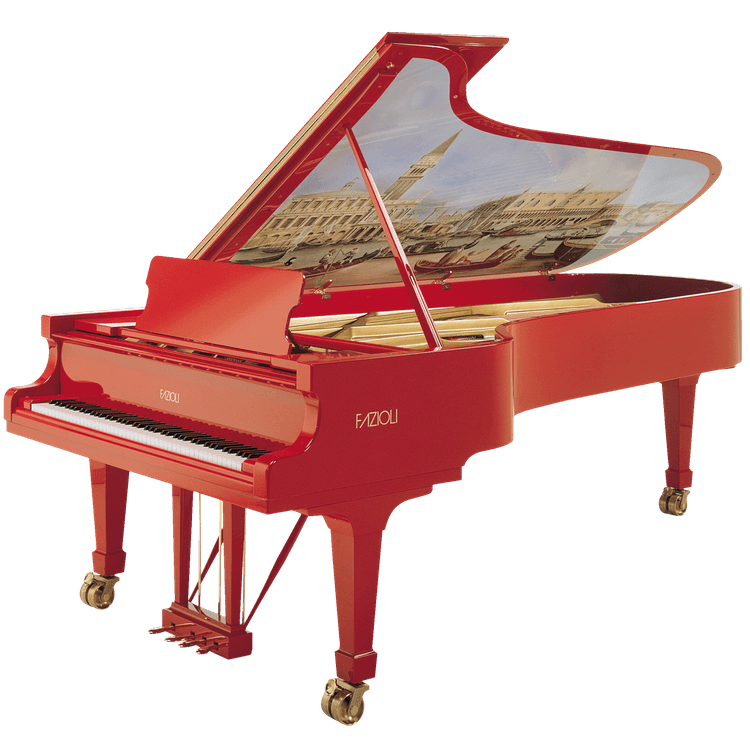 Fazioli Marco Polo Red Piano