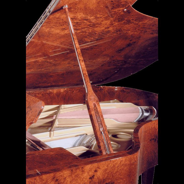Fazioli Model Amboina piano inside