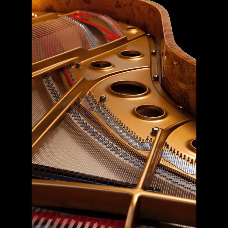 Fazioli Poplar Brier piano inside