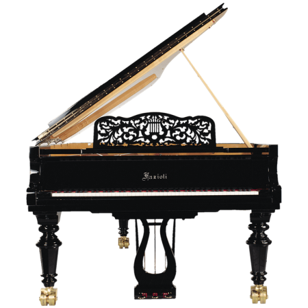 Fazioli Strauss piano with curved Lyra and music stand