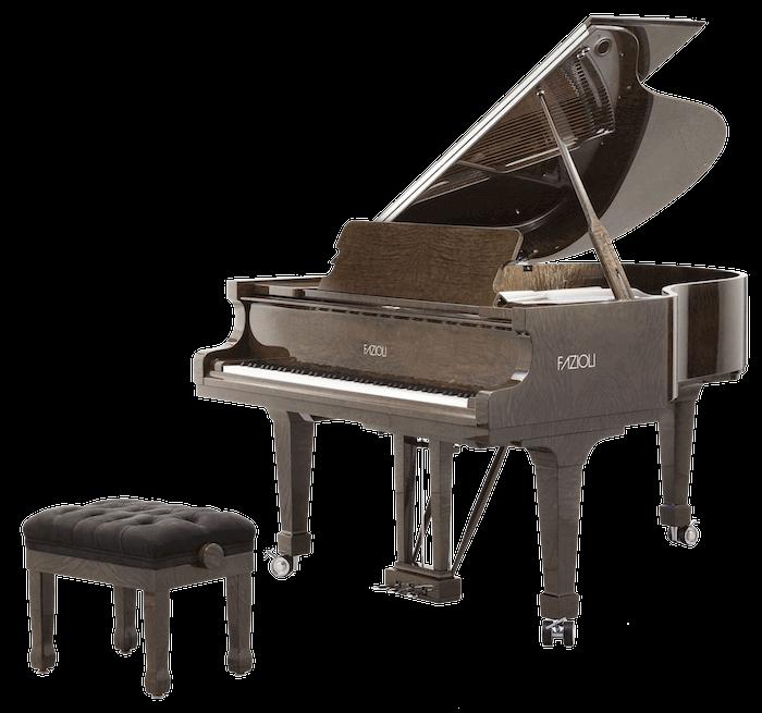 The Fazioli Tamo Burl grand piano