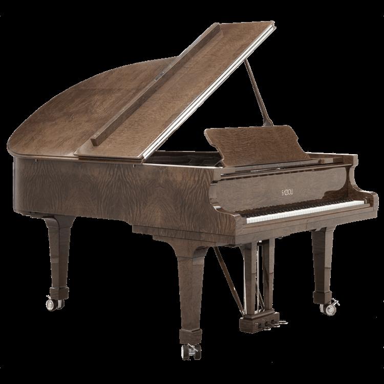 Fazioli Tamo Burl grand piano sideview