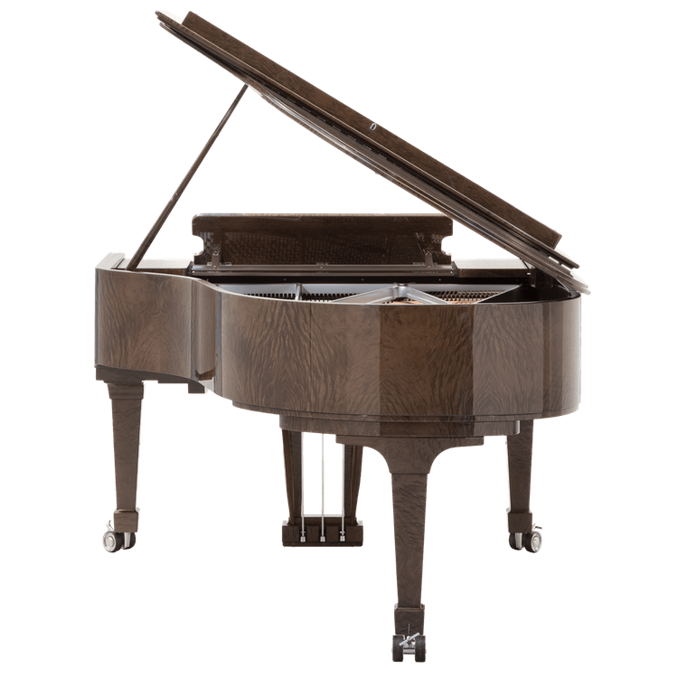 Fazioli Tamo Burl grand piano view from the back