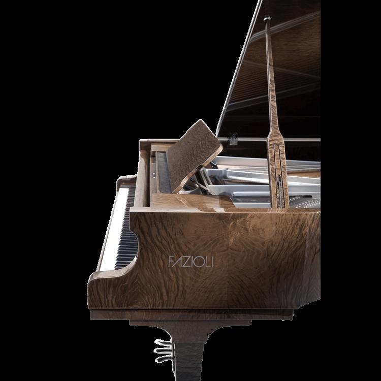 Fazioli Tamo Burl grand piano with silver inside