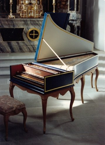 French harpsichord by Rouald  after Nicolas Dumont 1707