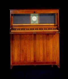 Hawkins' patented Upright with folding keyboard 1801