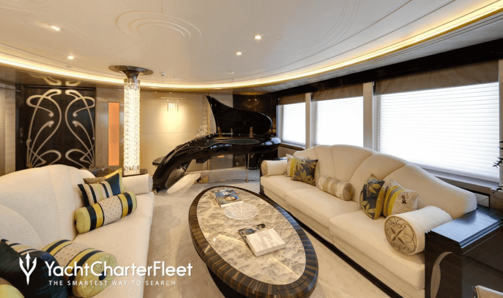 Modern Piano on a Yacht