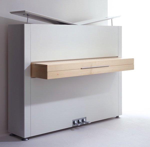 Sauter Pure White upright piano