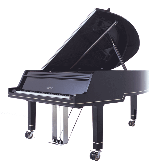 The Sauter Ambiente grand piano designed by Peter Maly
