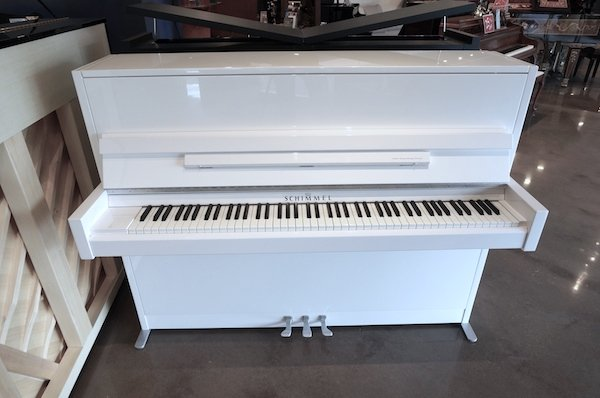 modern Schimmel upright piano